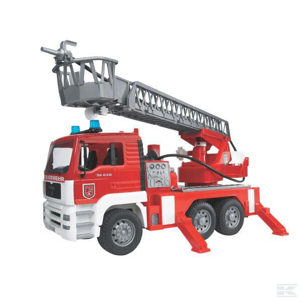 Childrens Toy Bruder Fire engine with ladder and sound module 2