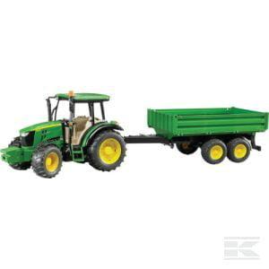 BRUDER John Deere 5115M with trailer U02108 2