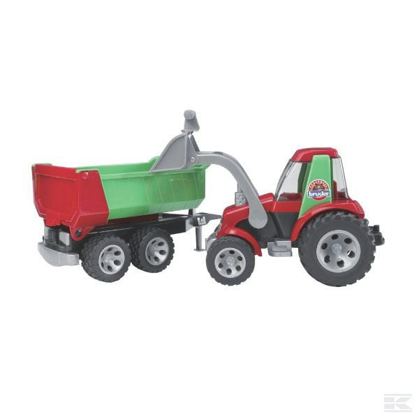 Childrens Kids Toy Roadmax tractor with trailer 2