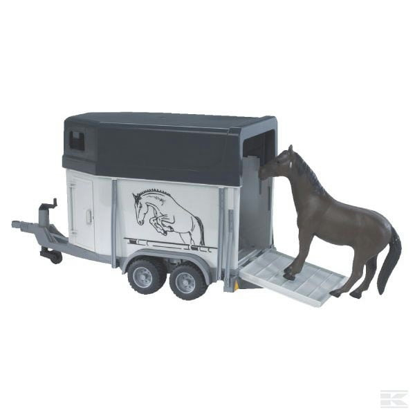 Bruder Horsebox with a horse U02028 2