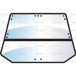 Complete Rear Window Assembly for Ford Q CAB SP100992 1