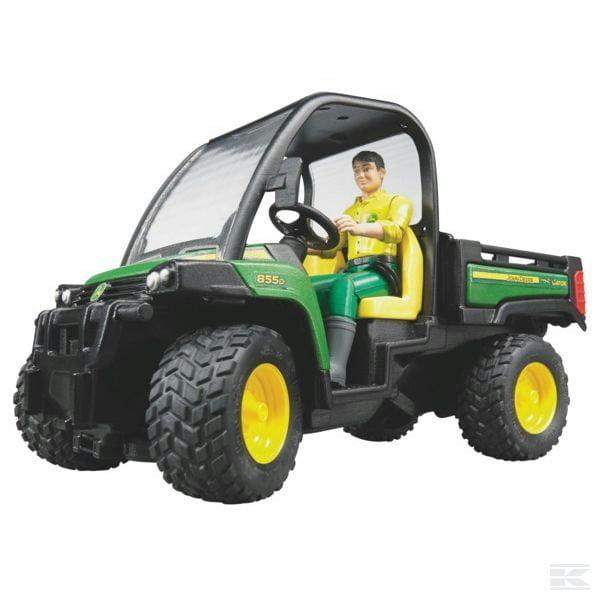 Childrens Toy Bruder John Deere Gator 855D with driver 2