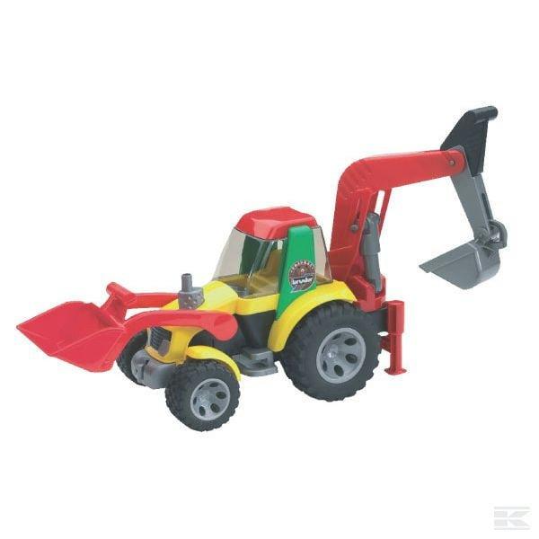 Childrens Kids Toy Bruder Backhoe loader 2