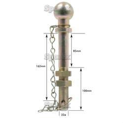 BALL HITCH PIN-50MM-22X190MM SP3210 2