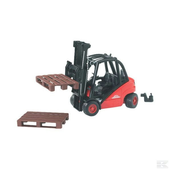 Childrens Kids Toy Bruder Linde H35 Forklift and 2 Pallets 2