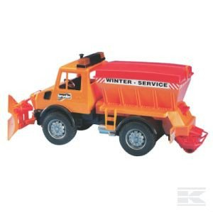 Childrens Toy Bruder Unimog Gritter & snow plough 2