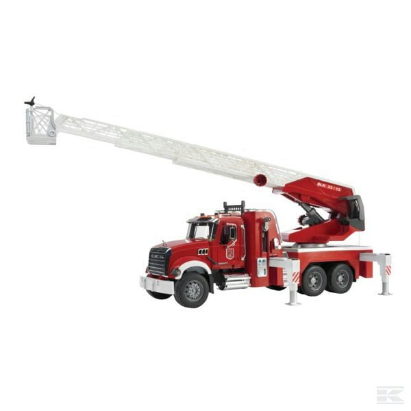Childrens Toy Bruder Mack fire engine with ladder and sound 1