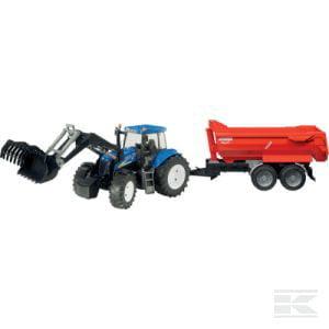 NH T8040 +front loadr + trailr U09035 2