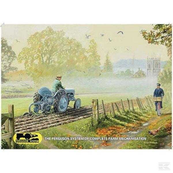 Ploughing with the Ferguson billboards Massey Ferguson TTF6185 2