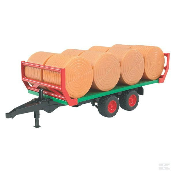 Childrens Kids Toy Roundbale trailer with 8 bales 2