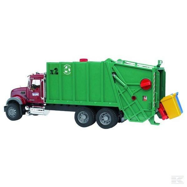 Childrens Toy Bruder Mack Granite dustbin lorry 2
