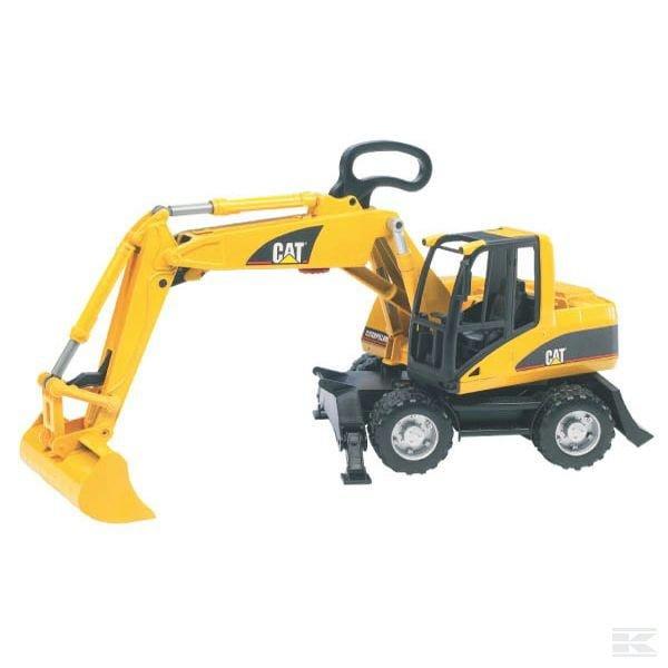 Childrens Kids Toy Bruder CAT Wheeled excavator 2