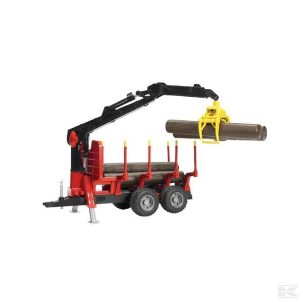 Bruder Logging trailer, 4 logs+crane U02252 2
