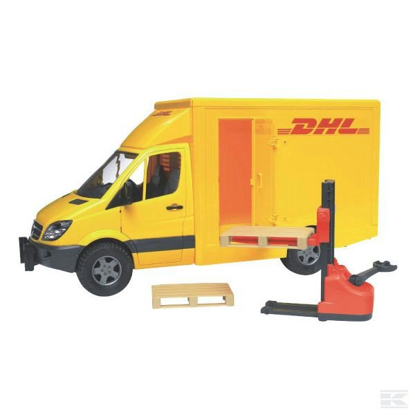 Childrens Toy Bruder MB sprinter DHL with Pallet truck 2