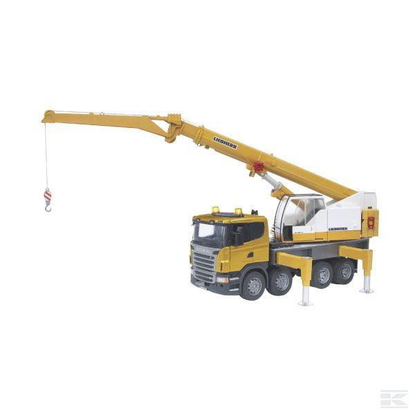 Childrens Toy Bruder Scania R with Liebherr crane and sound 2