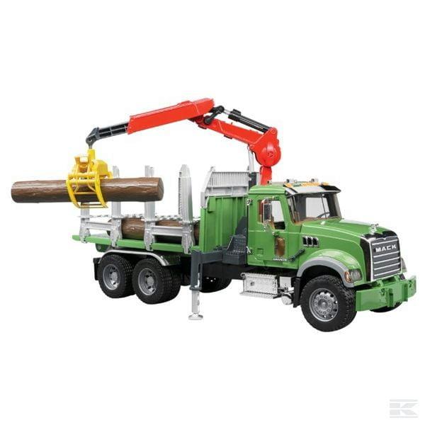 Childrens Toy Bruder Mack Granite Log Transporter Lorry 2
