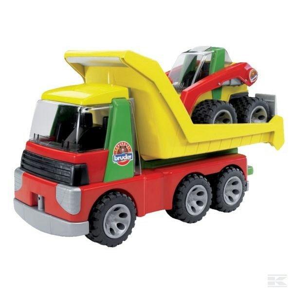Childrens Kids Toy Bruder Roadmax lorry w skid steer l 2