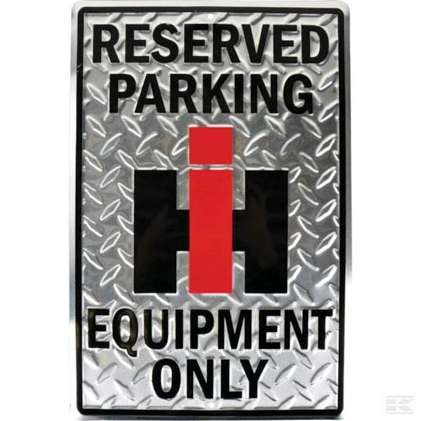 IH reserved parking sign McCormick Case 2