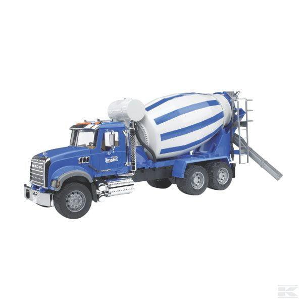 Childrens Toy Bruder Mack Granite Cement Mixer Truck 2