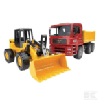 Childrens Toy Bruder MAN tippingtruck with wheeled loader 4
