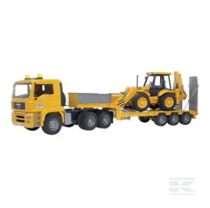 MAN TGA low loader with 4CX JCB U02776 2