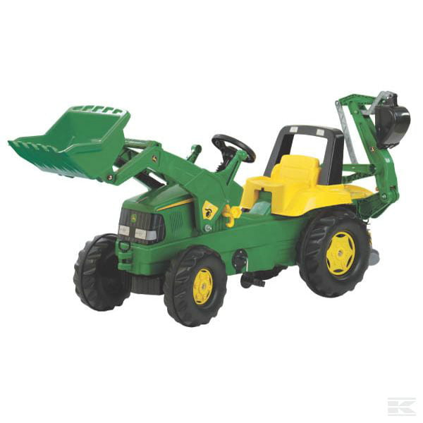 ROLLY John Deere with front loader and backhoe R81107 2