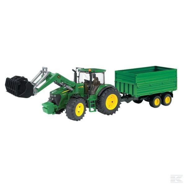 Bruder John Deere 7930 with loader and trailer U03055 2