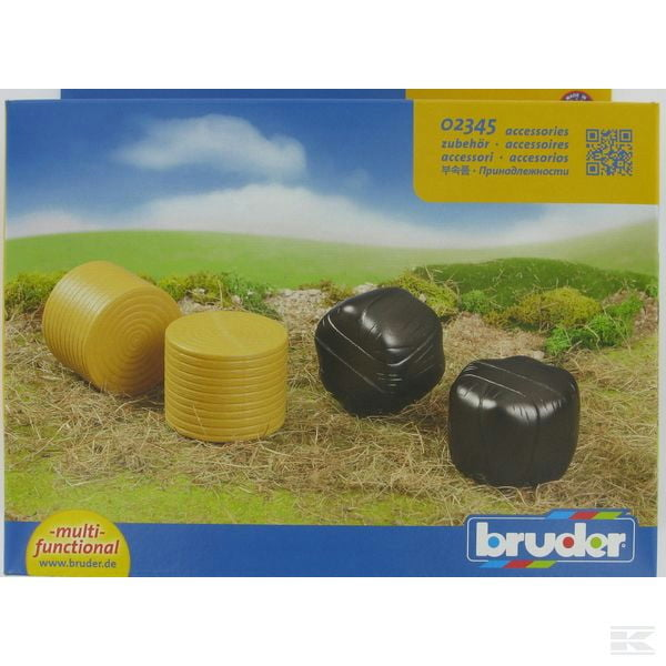 Childrens Kids Toy Bruder Assorted round bales (4 pcs) 1