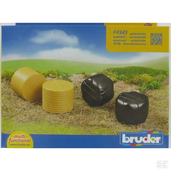 Childrens Kids Toy Bruder Assorted round bales (4 pcs) 2