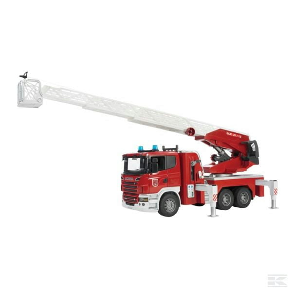 Childrens  Toy Bruder Scania Fire Engine with ladder and sound 2