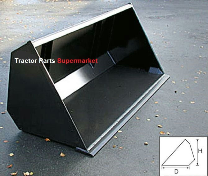 """Loader Bucket 4' H27""""xD26"""" (various sized buckets) 2"""