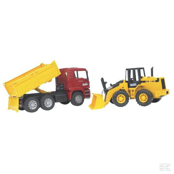 Childrens Toy Bruder MAN tippingtruck with wheeled loader 2