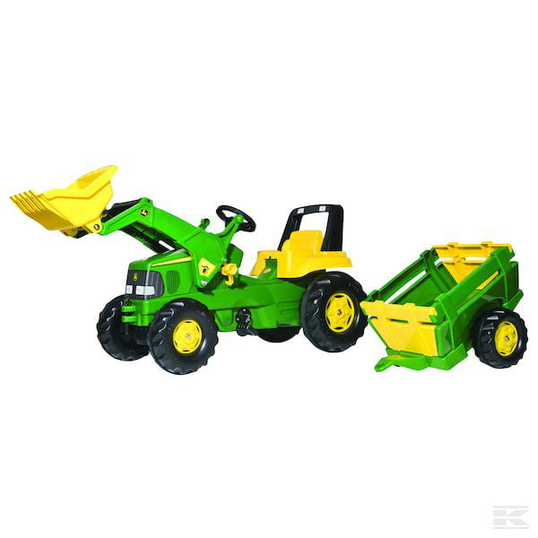 ROLLY John Deere pedal tractor, with trailer and loader R81149 2