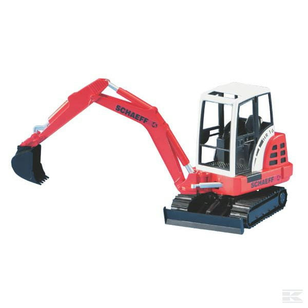 Childrens Kids Toy Bruder Mini excavator HR 16 2