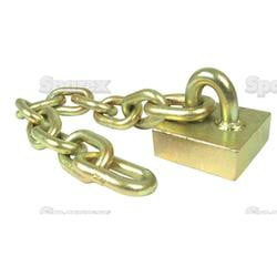 "Flail Chain assembly 1/2"" x 11 long link Marshall MS70 2"
