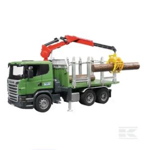 Childrens Toy Bruder Scania R Series Log Transporter 2