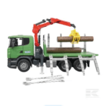 Childrens Toy Bruder Scania R Series Log Transporter 4