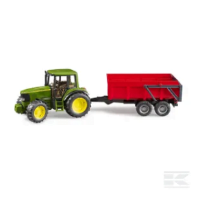 Bruder John Deere 6920 Tractor with trailer U02057 2