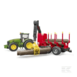 Bruder John Deere 7930 Tractor with forestry trailer and 4 trunks U03054 6