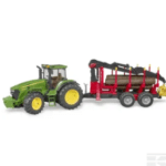 Bruder John Deere 7930 Tractor with forestry trailer and 4 trunks U03054 3