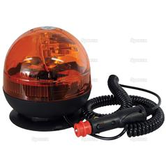 Magnetic Amber Halogen Beacon Low Profile12/24v 113185 1