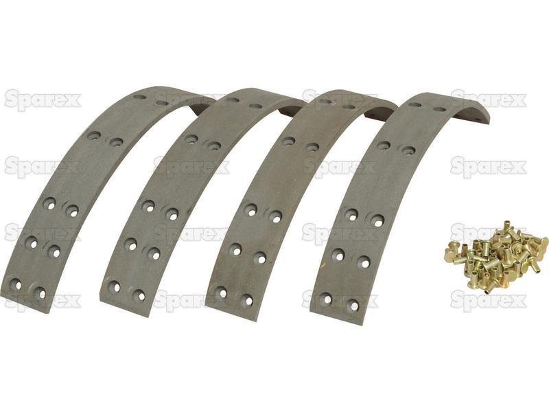 Brake Lining Kit Shoe, Length: 350mm. 65721 2